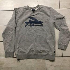 Patagonia Fish Print Grey Crewneck Sweater